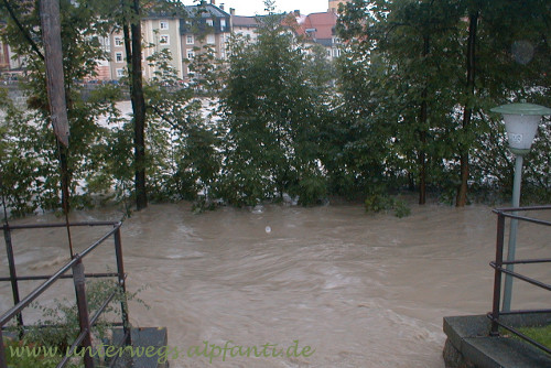 Sylvensteinsee - Hochwasser in Bad Tölz 2005